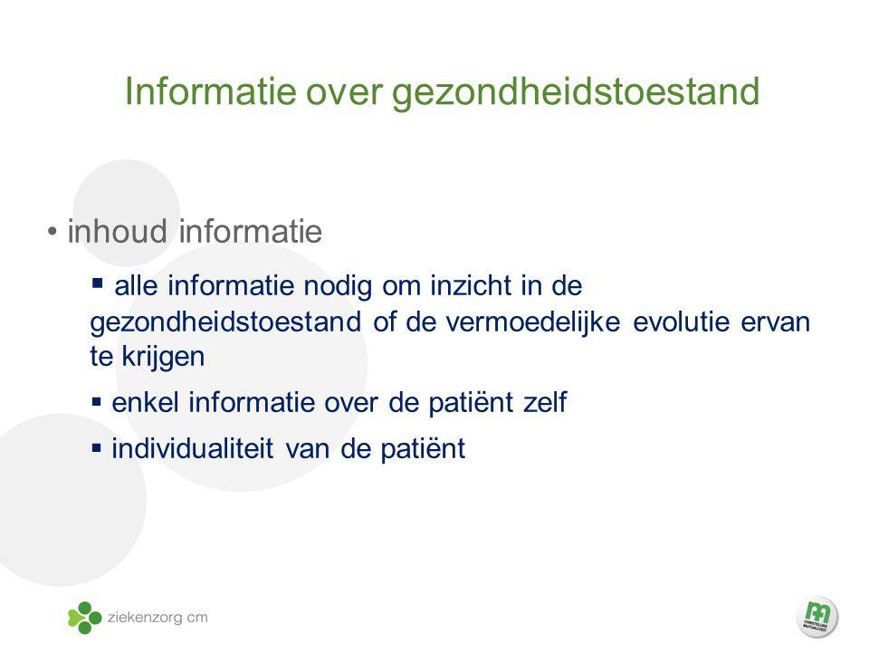 Informatie over gezondheidstoestand
