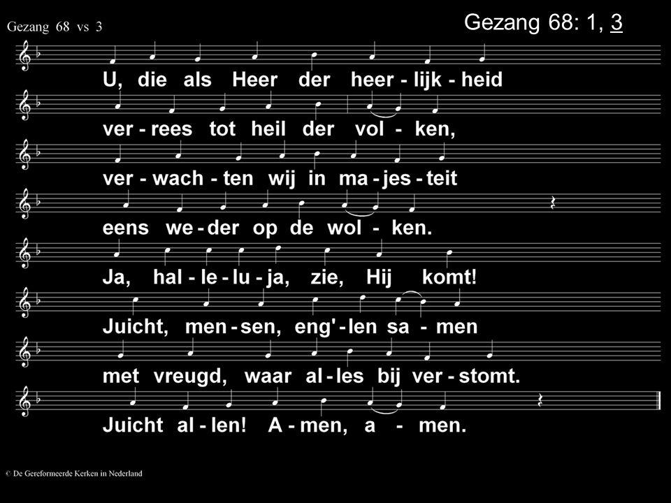 Gezang 68: 1, 3