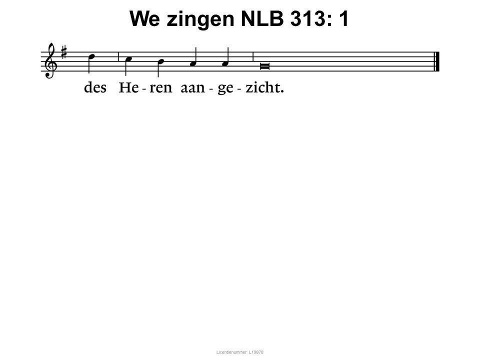 We zingen NLB 313: 1