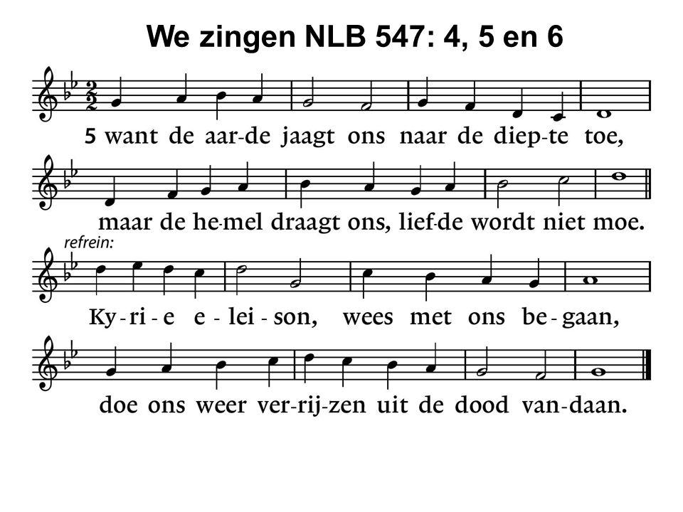 We zingen NLB 547: 4, 5 en 6 35