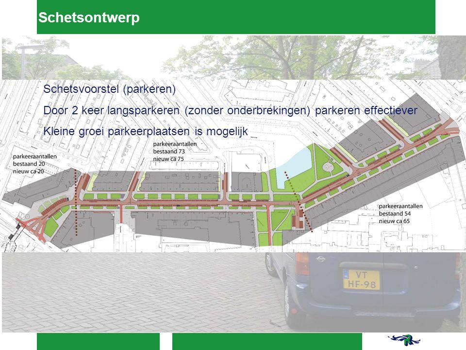 Schetsontwerp Schetsvoorstel (parkeren)
