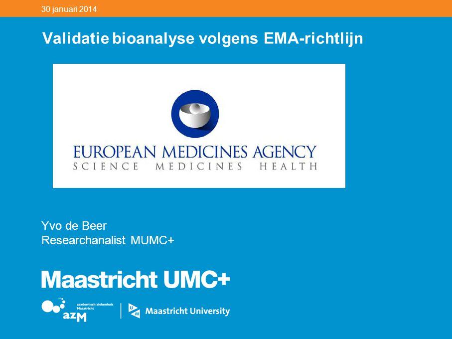 Validatie bioanalyse volgens EMA-richtlijn