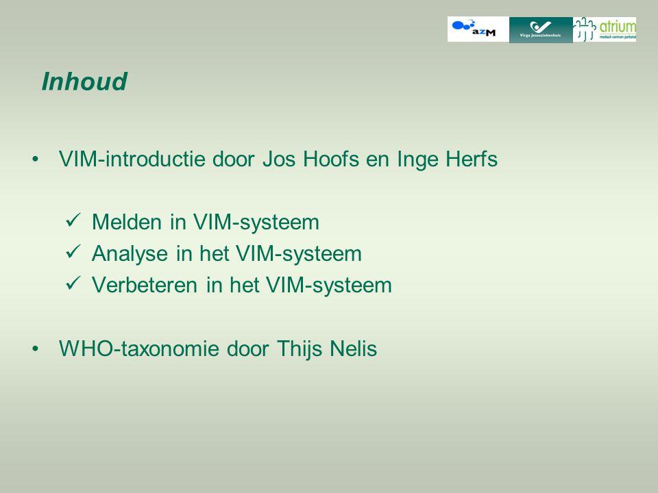 Inhoud VIM-introductie door Jos Hoofs en Inge Herfs