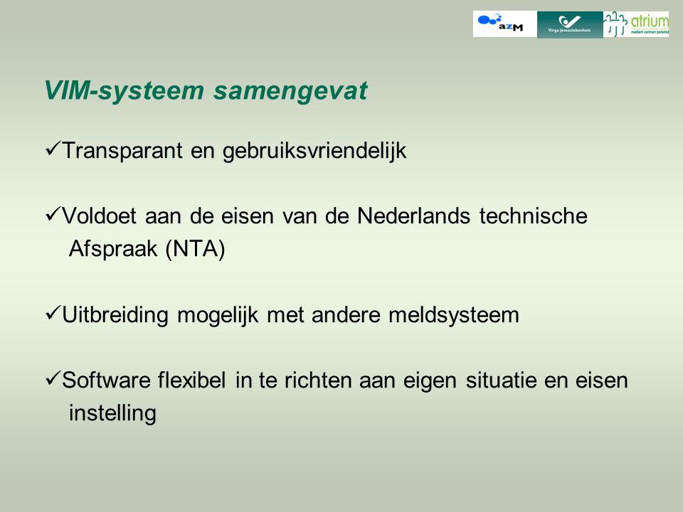 VIM-systeem samengevat