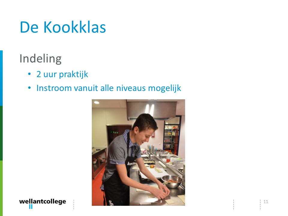 De Kookklas Indeling 2 uur praktijk