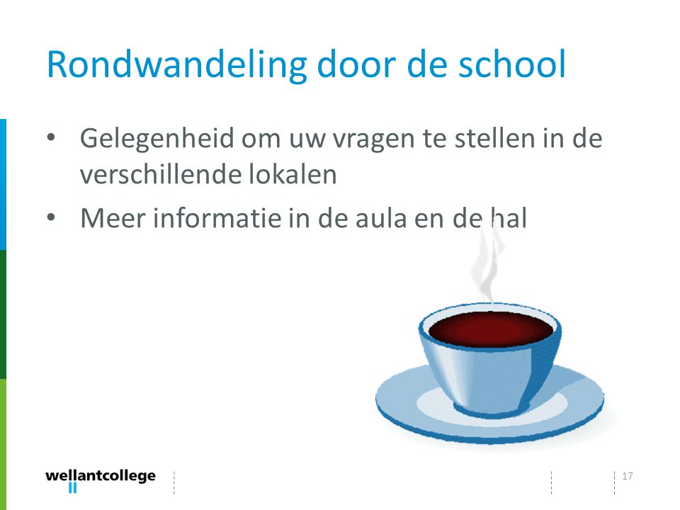 Rondwandeling door de school