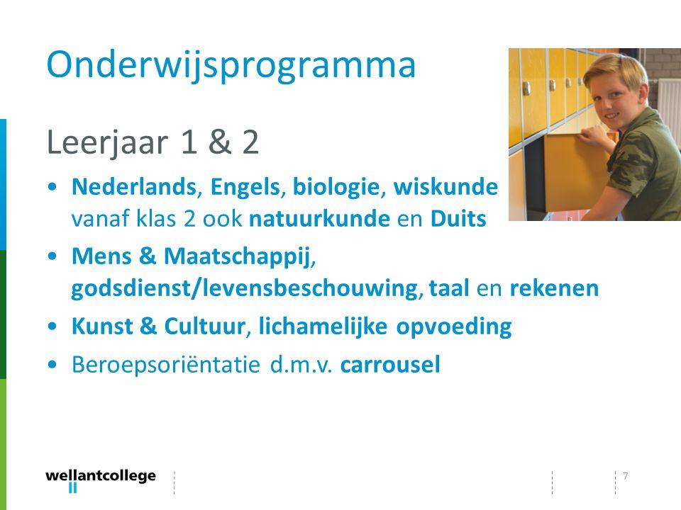 Onderwijsprogramma Leerjaar 1 & 2