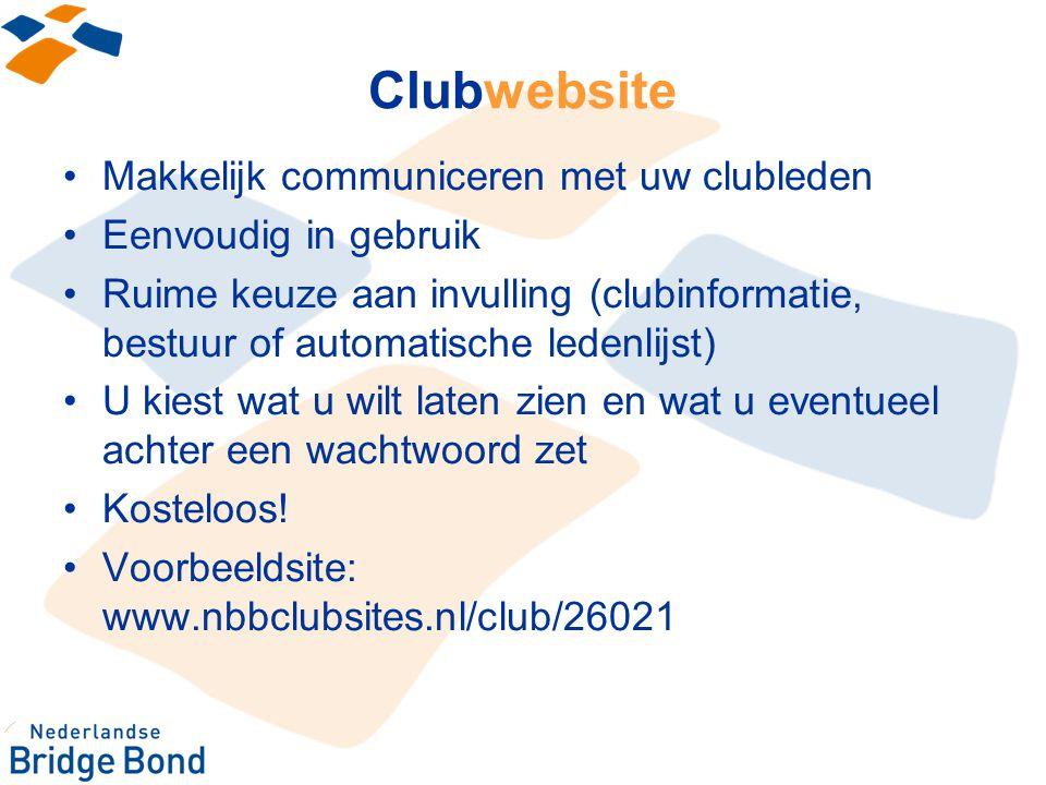 Clubwebsite Makkelijk communiceren met uw clubleden