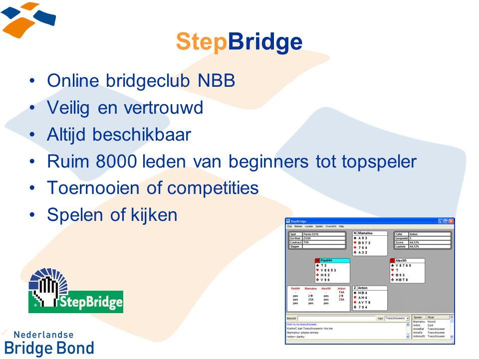 StepBridge Online bridgeclub NBB Veilig en vertrouwd