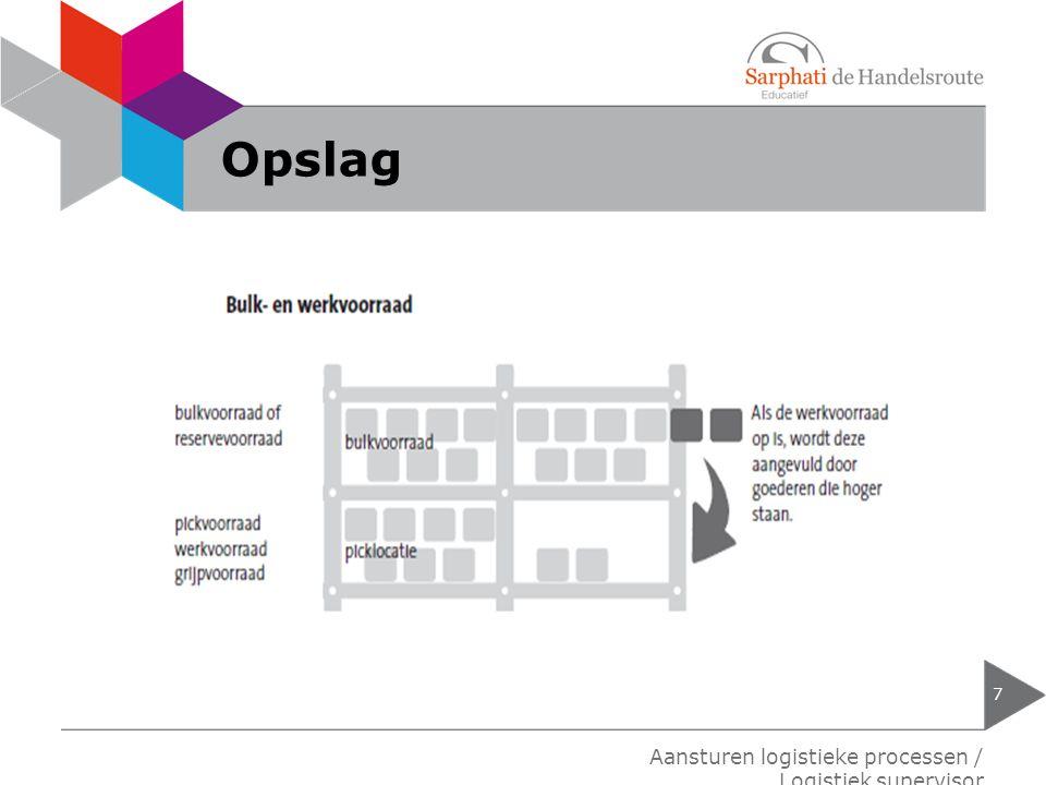 Opslag Aansturen logistieke processen / Logistiek supervisor
