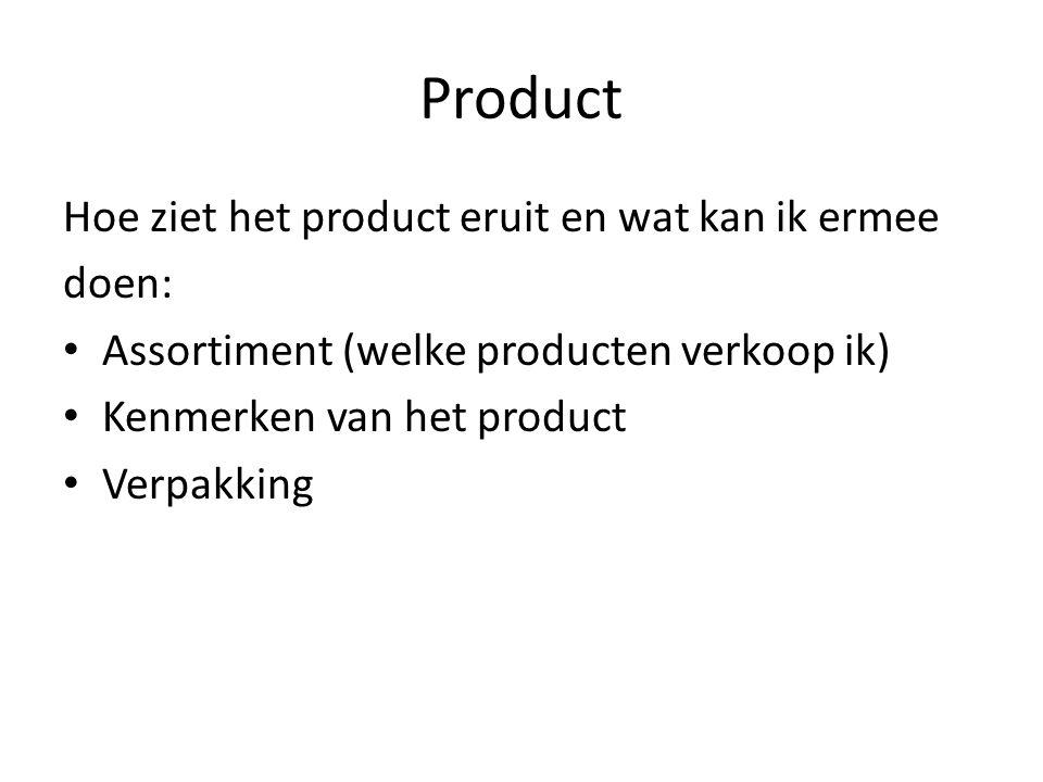 Product Hoe ziet het product eruit en wat kan ik ermee doen: