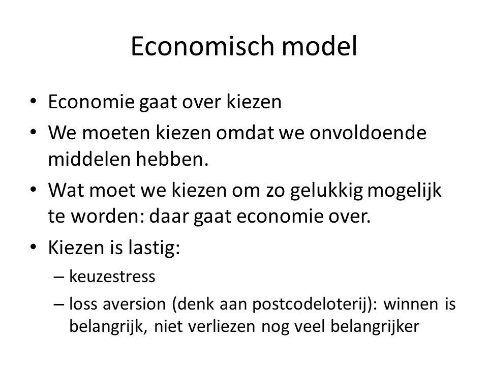 Economisch model Economie gaat over kiezen