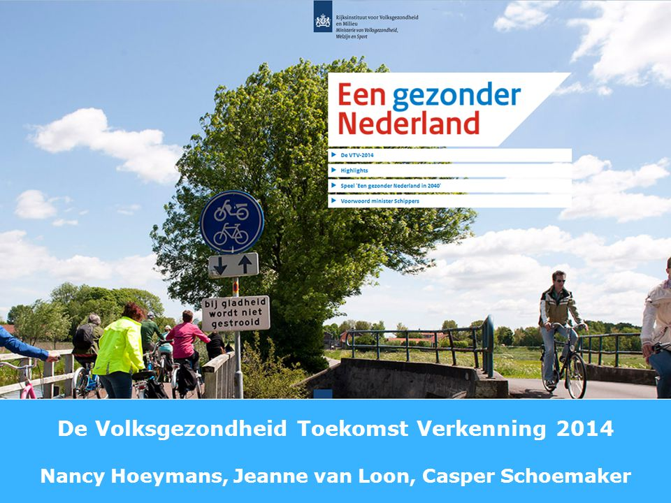 Een gezonder Nederland VTV-2014