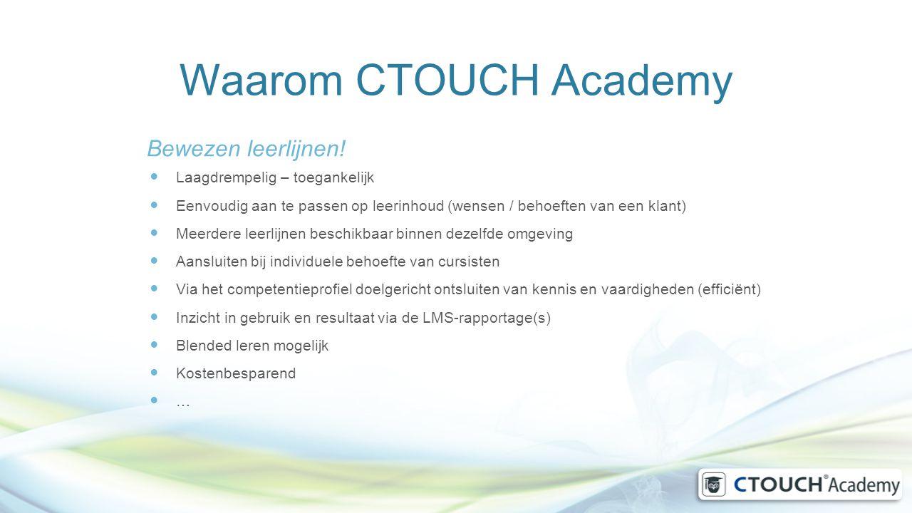 Waarom CTOUCH Academy Bewezen leerlijnen! Laagdrempelig – toegankelijk