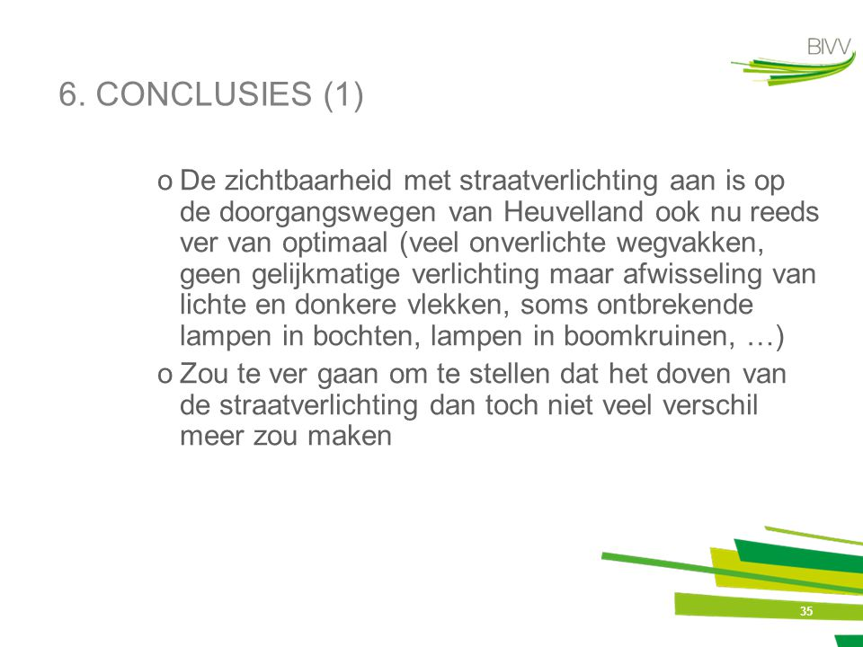 6. CONCLUSIES (1)