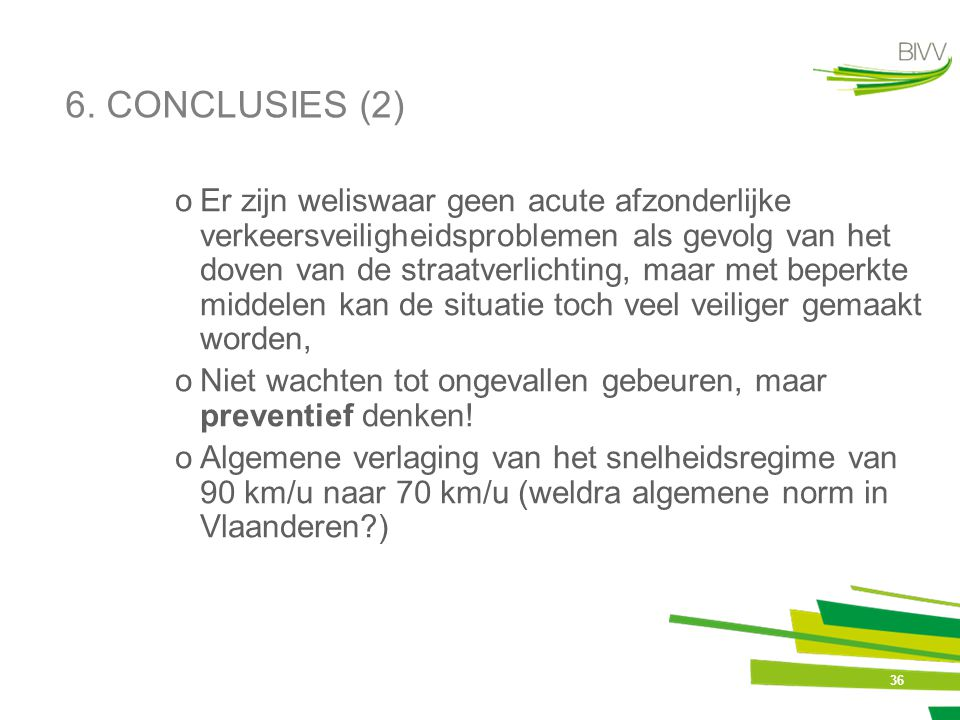 6. CONCLUSIES (2)