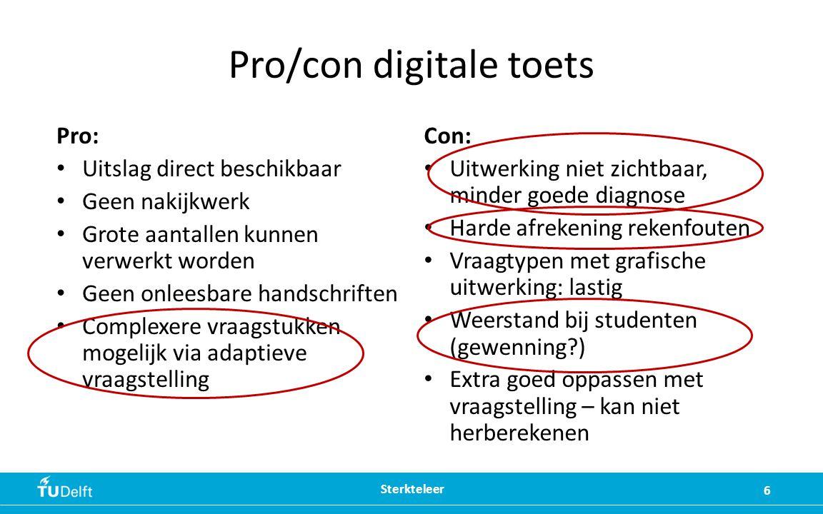 Pro/con digitale toets