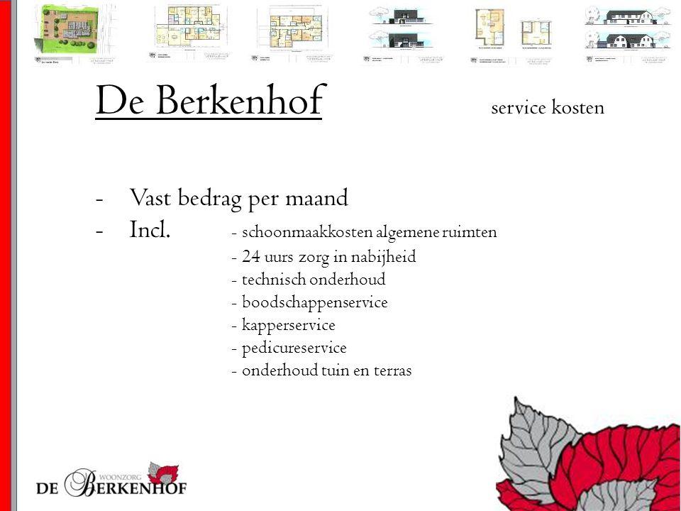 De Berkenhof service kosten