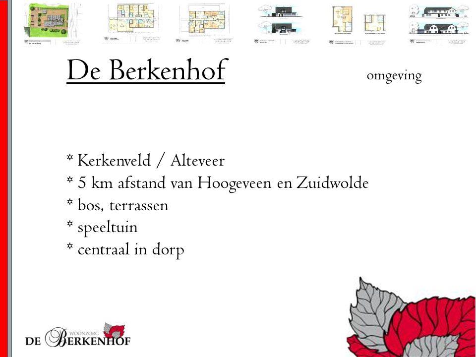 De Berkenhof omgeving * Kerkenveld / Alteveer * 5 km afstand van Hoogeveen en Zuidwolde * bos, terrassen * speeltuin * centraal in dorp.