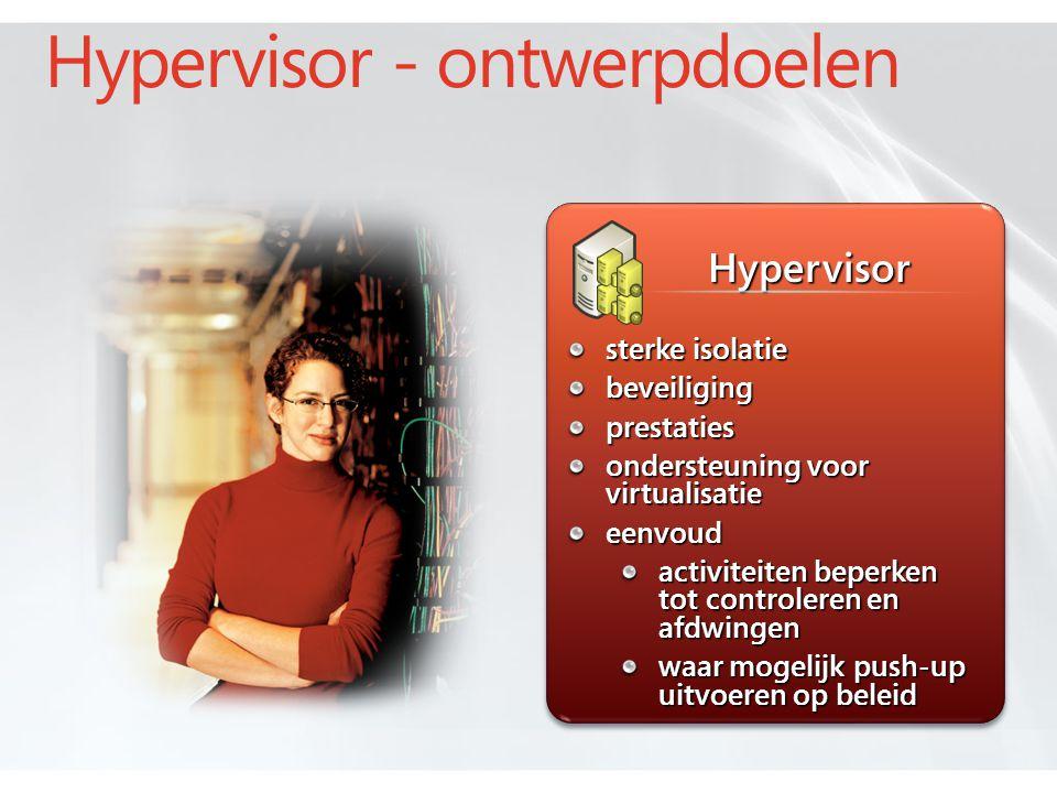 Hypervisor - ontwerpdoelen