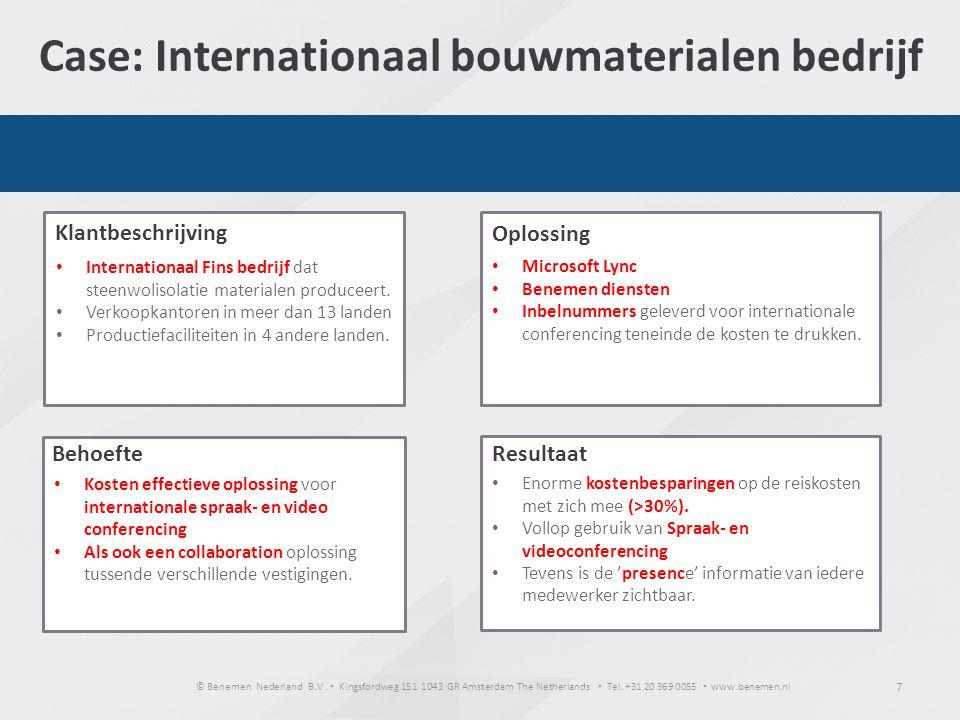 Case: Internationaal bouwmaterialen bedrijf