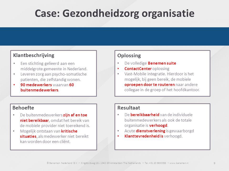 Case: Gezondheidzorg organisatie