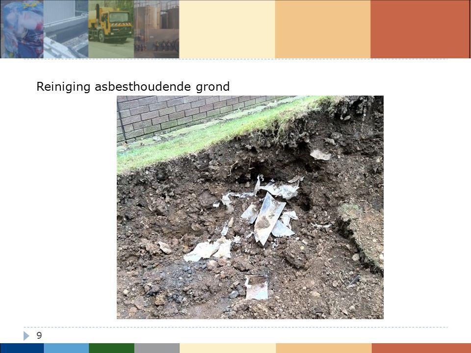Reiniging asbesthoudende grond