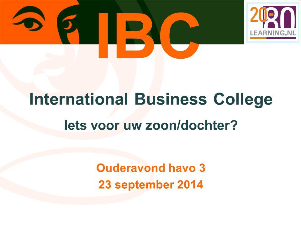 International Business College Iets voor uw zoon/dochter