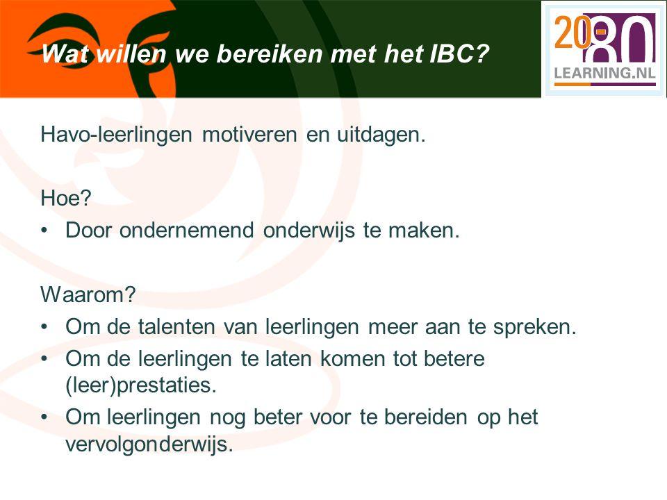 Wat willen we bereiken met het IBC