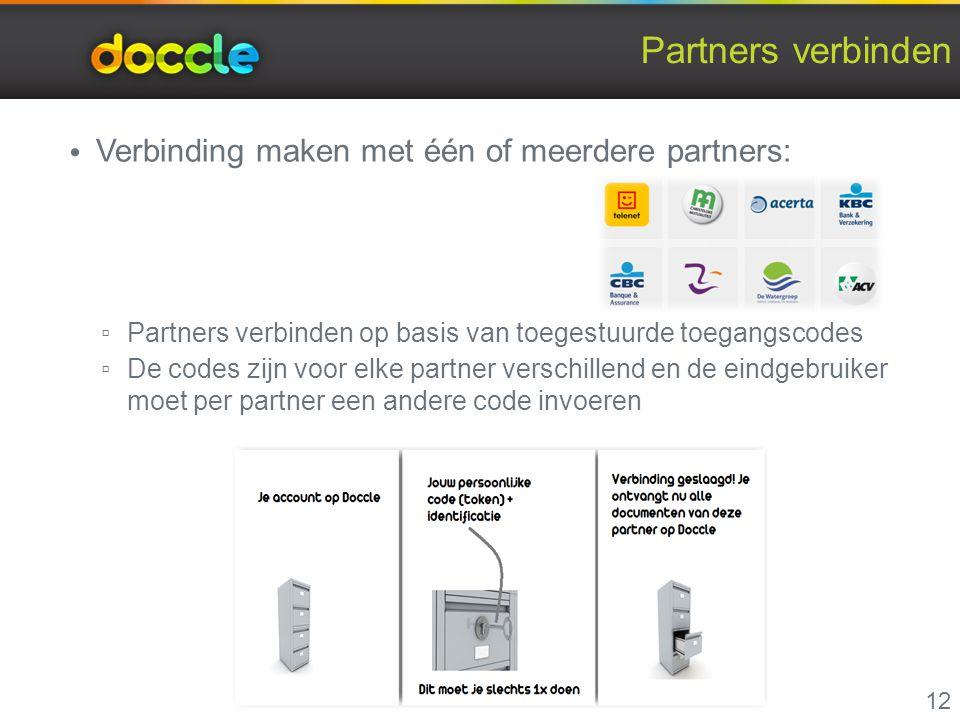Partners verbinden Verbinding maken met één of meerdere partners: