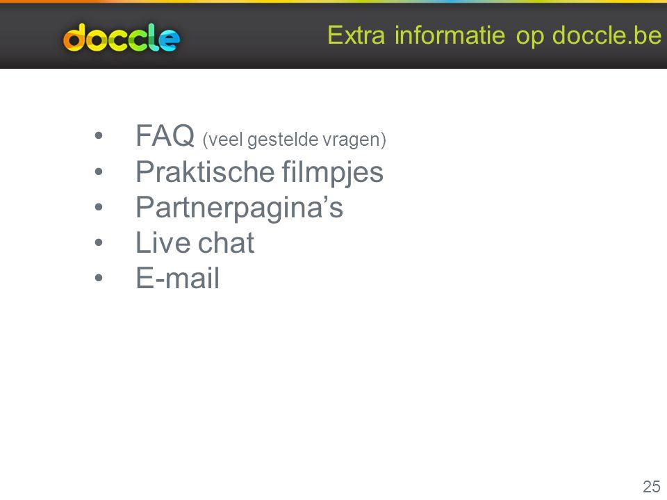 Extra informatie op doccle.be