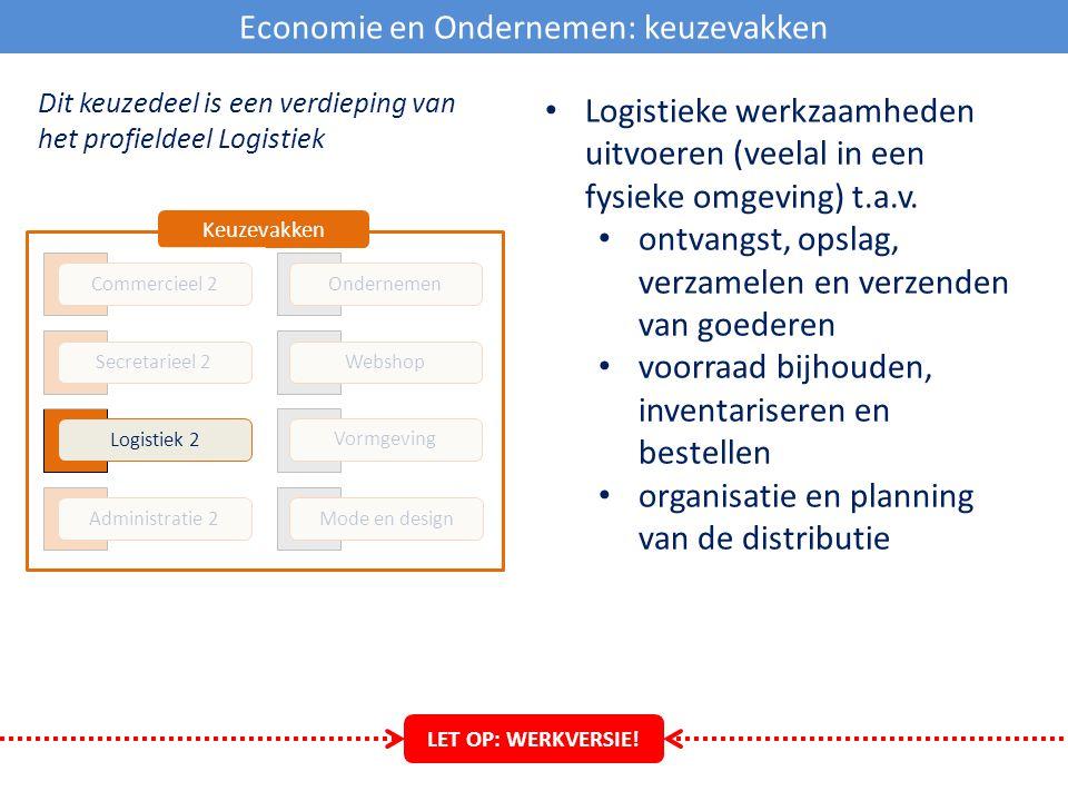 Economie en Ondernemen: keuzevakken