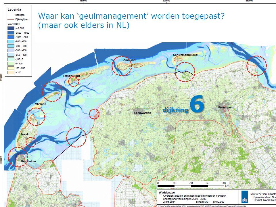 Waar kan 'geulmanagement' worden toegepast (maar ook elders in NL)
