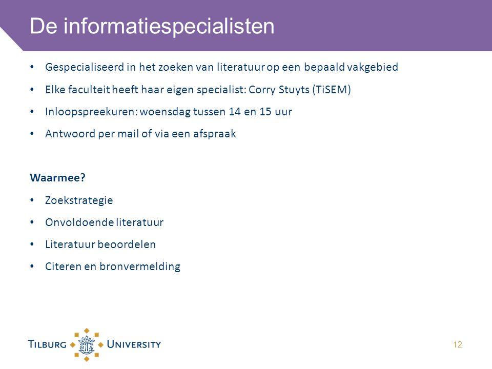 De informatiespecialisten