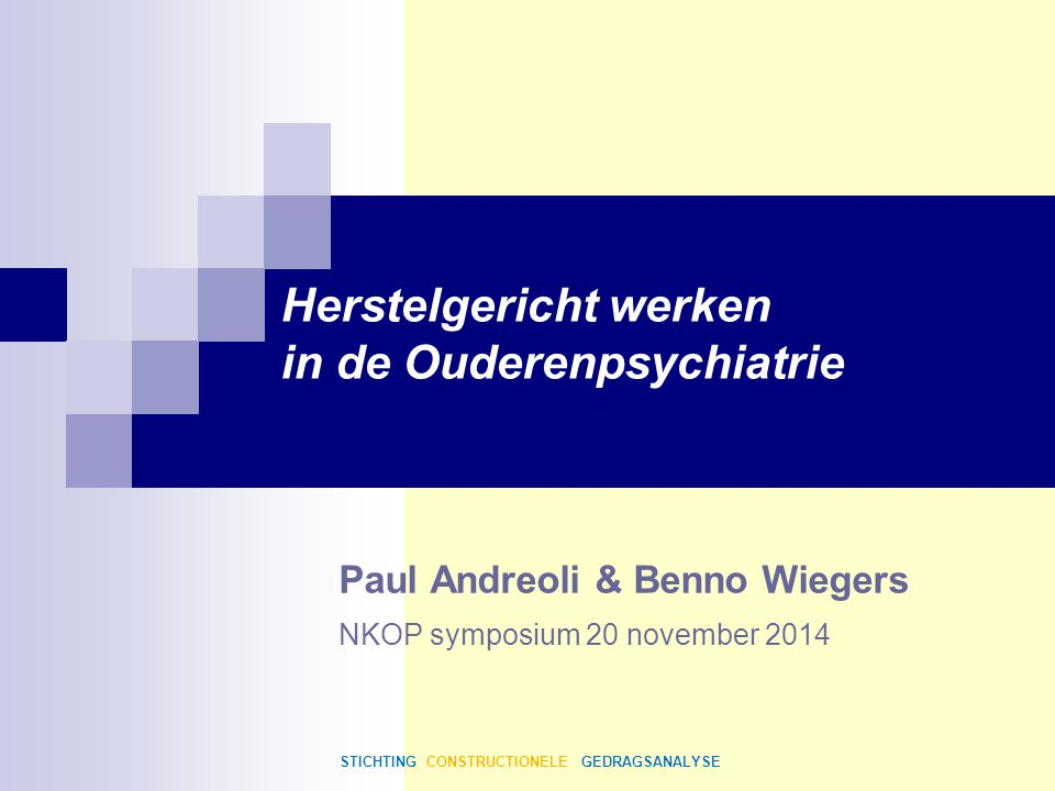Paul Andreoli & Benno Wiegers