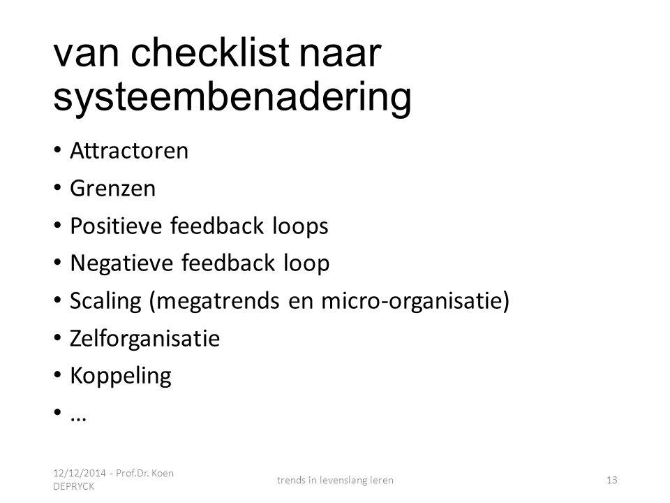 van checklist naar systeembenadering