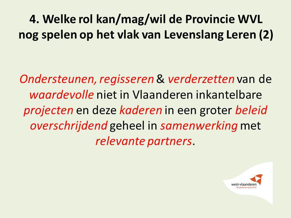 4. Welke rol kan/mag/wil de Provincie WVL nog spelen op het vlak van Levenslang Leren (2)