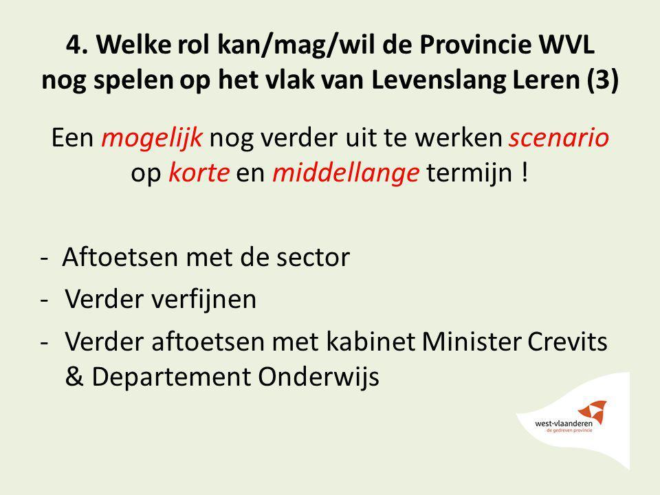 4. Welke rol kan/mag/wil de Provincie WVL nog spelen op het vlak van Levenslang Leren (3)