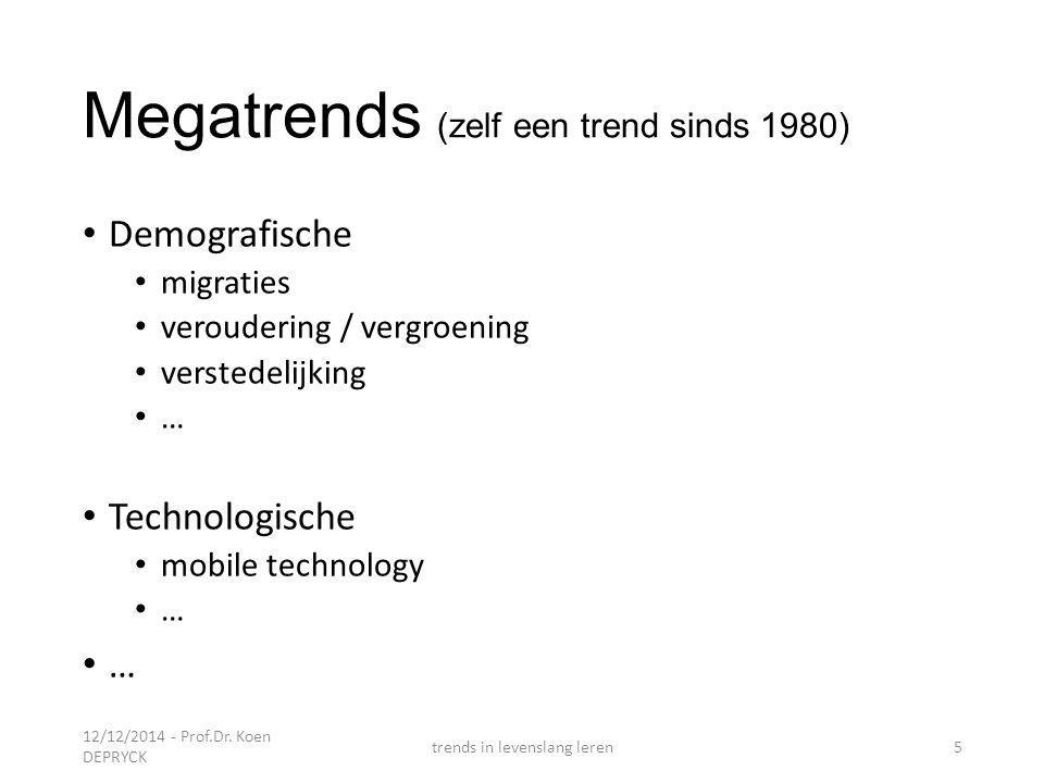 Megatrends (zelf een trend sinds 1980)