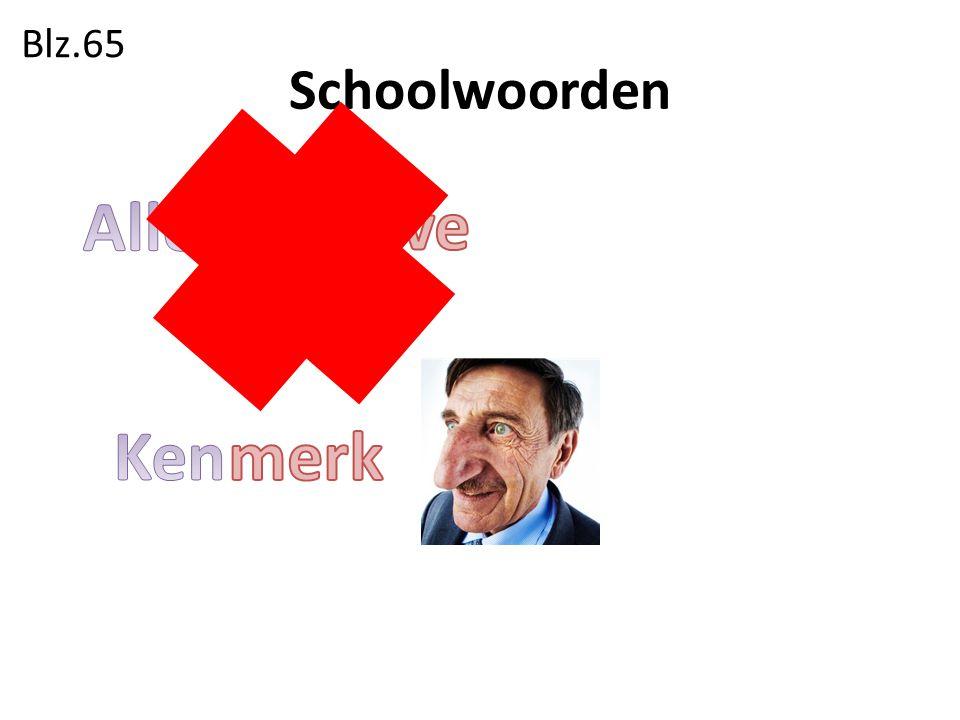 Blz.65 Schoolwoorden Alles behalve Ken merk