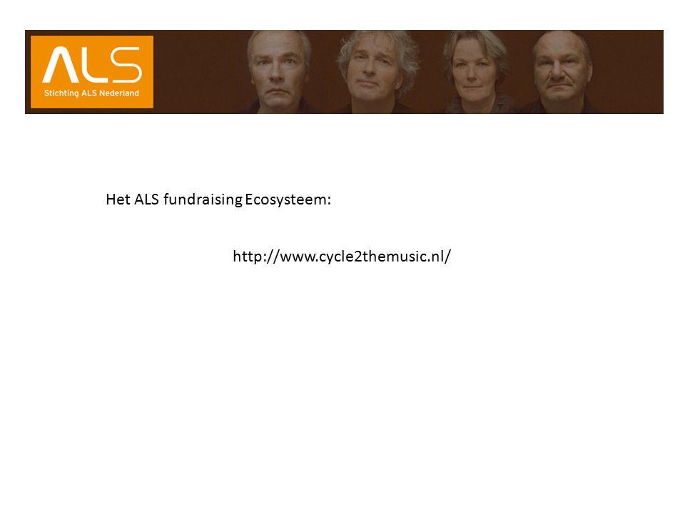 Het ALS fundraising Ecosysteem: