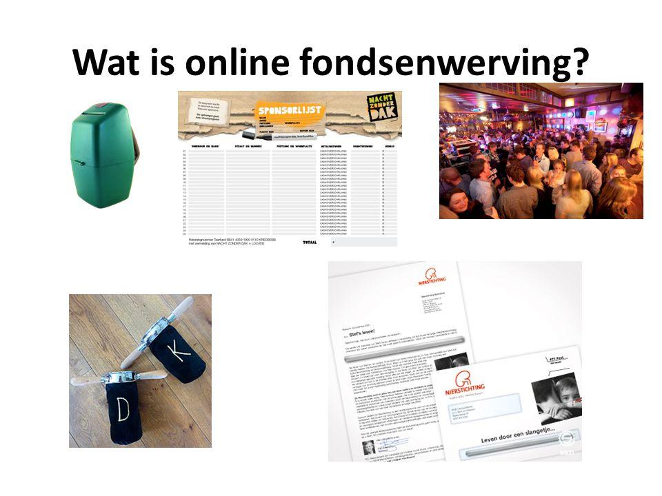 Wat is online fondsenwerving