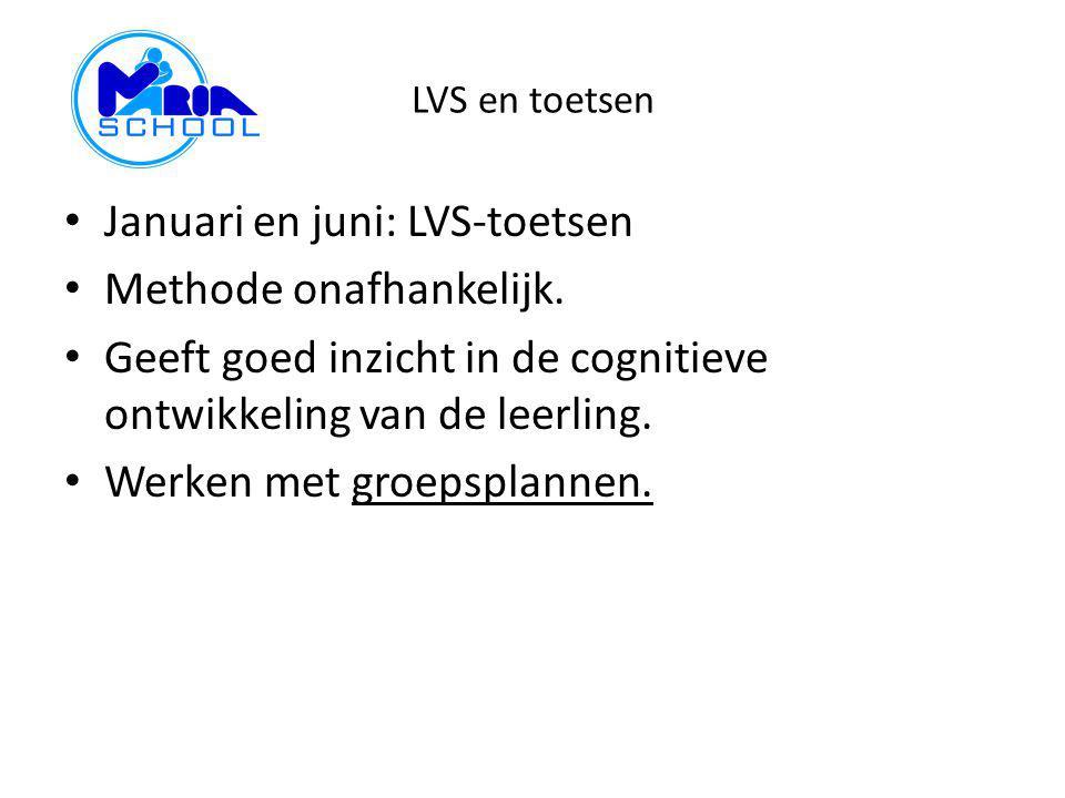 Januari en juni: LVS-toetsen Methode onafhankelijk.