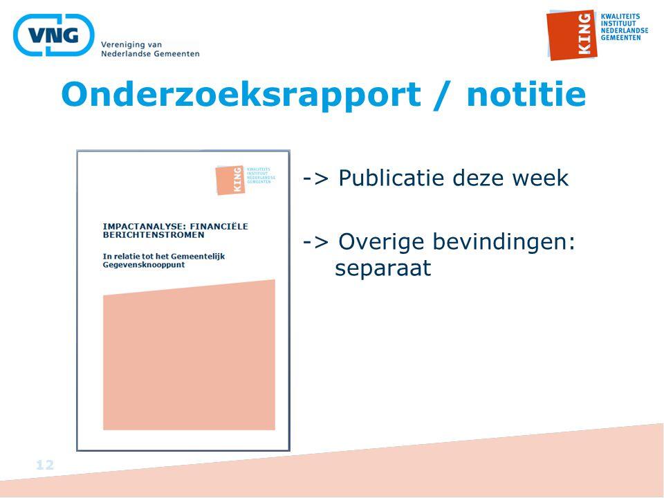 Onderzoeksrapport / notitie