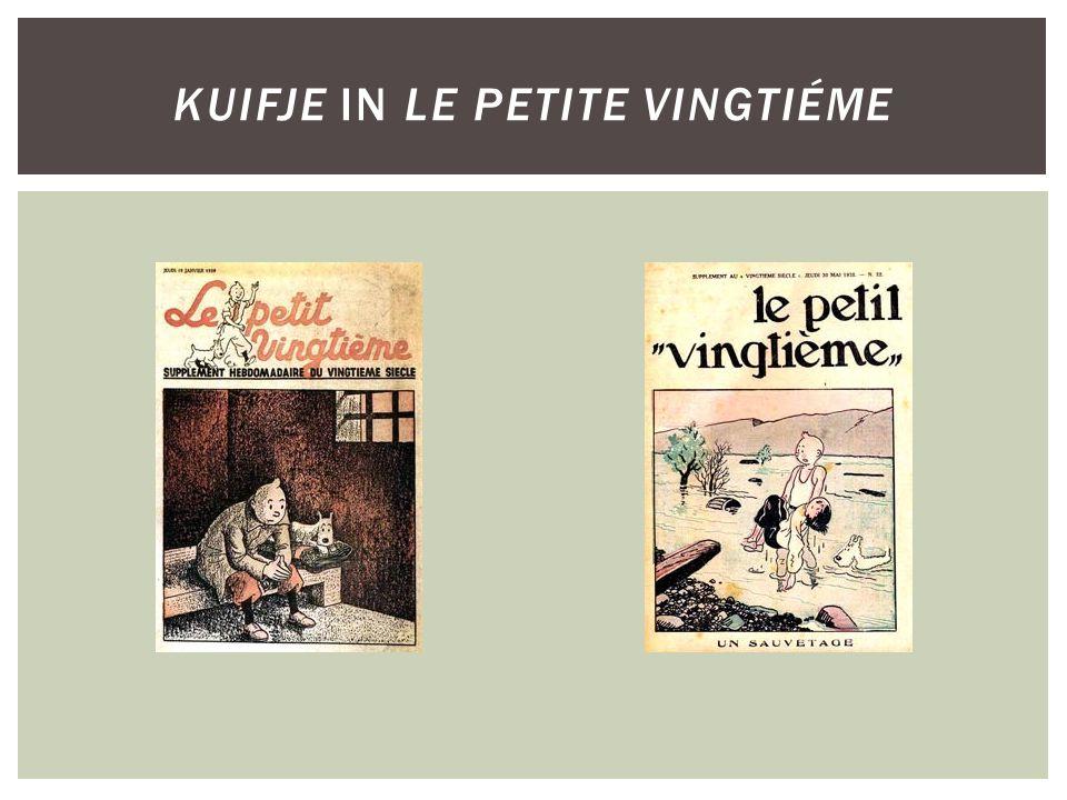 Kuifje in Le petite Vingtiéme