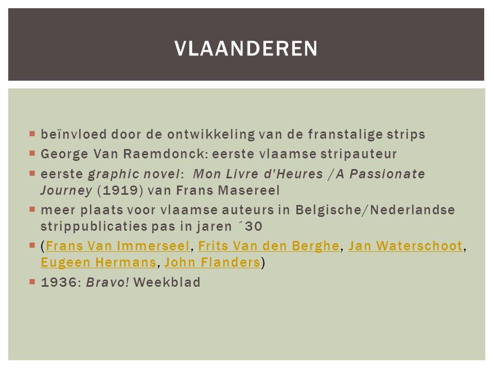 Vlaanderen beïnvloed door de ontwikkeling van de franstalige strips