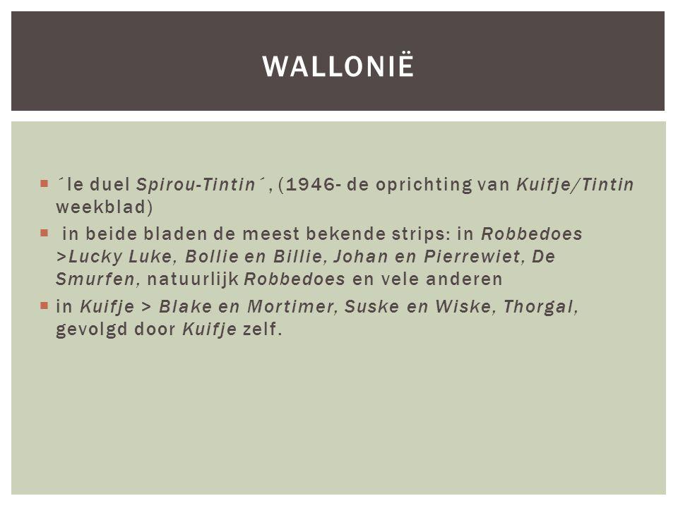 wallonië ´le duel Spirou-Tintin´, (1946- de oprichting van Kuifje/Tintin weekblad)