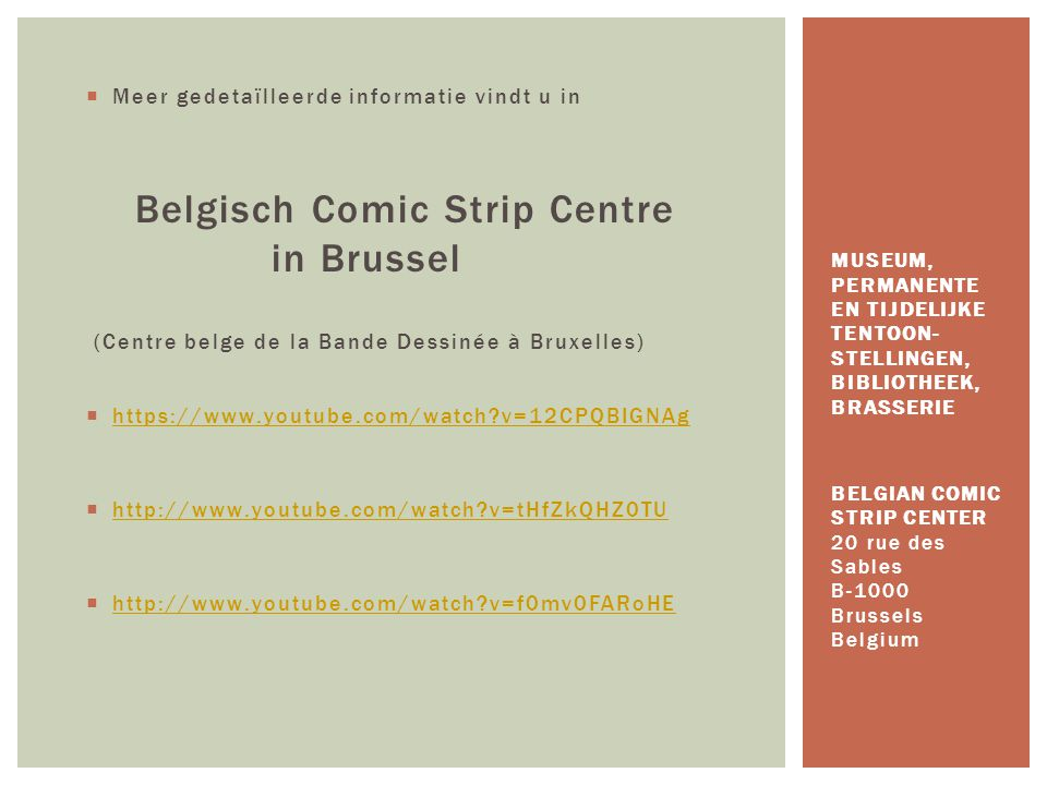 Belgisch Comic Strip Centre in Brussel