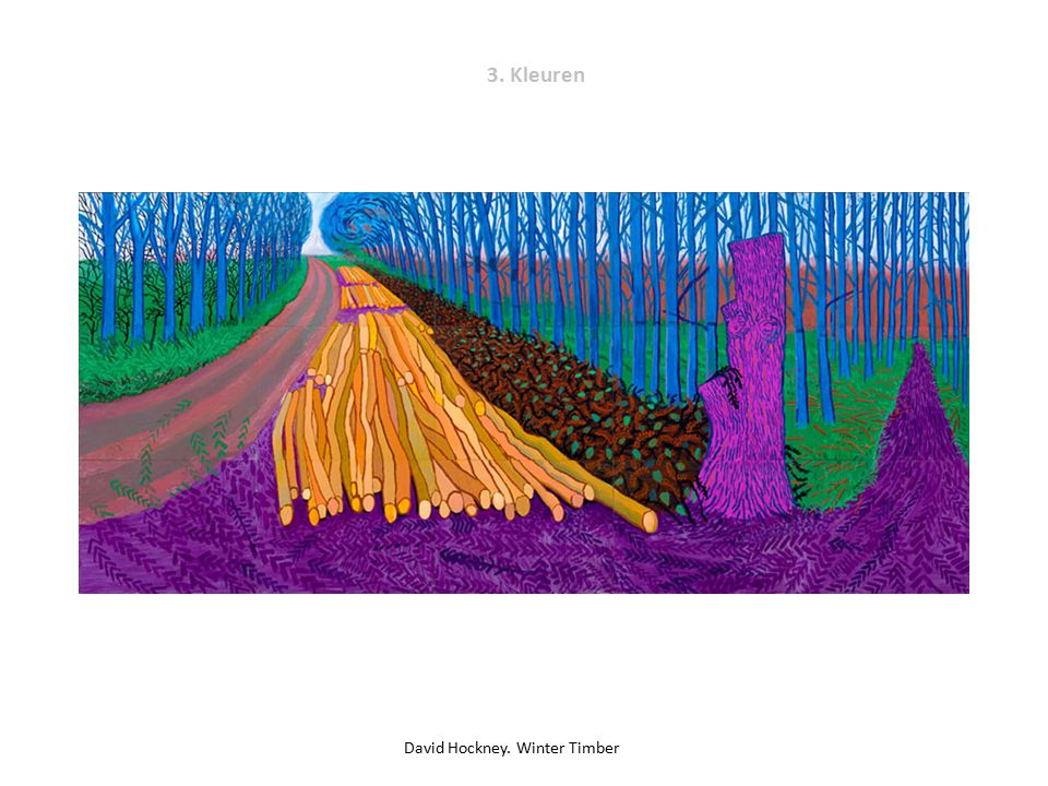 David Hockney. Winter Timber