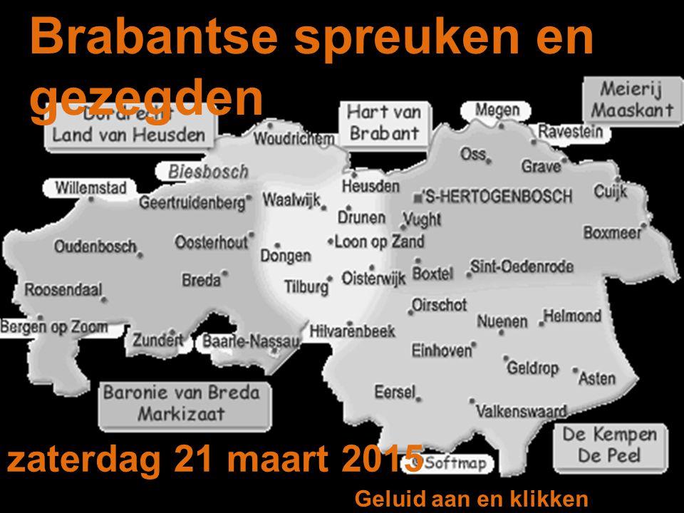Brabantse spreuken en gezegden